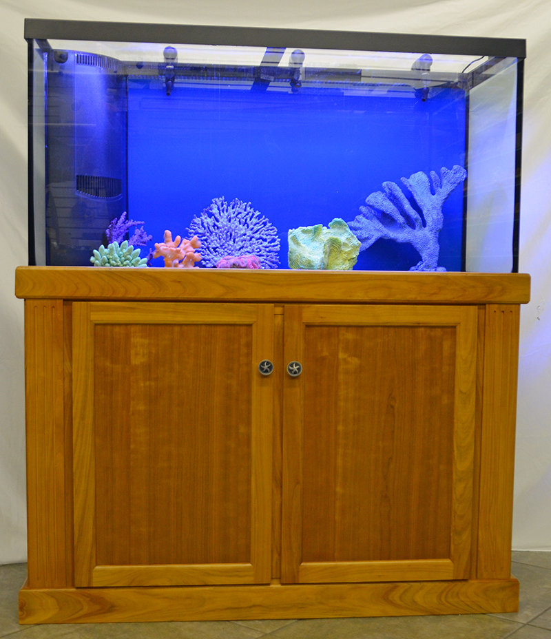 furniture aquarium. marineland 90 gallon reef ready aquarium with custom cherry cabinet furniture