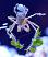Frilly Arrow Crab on Cerith Snail