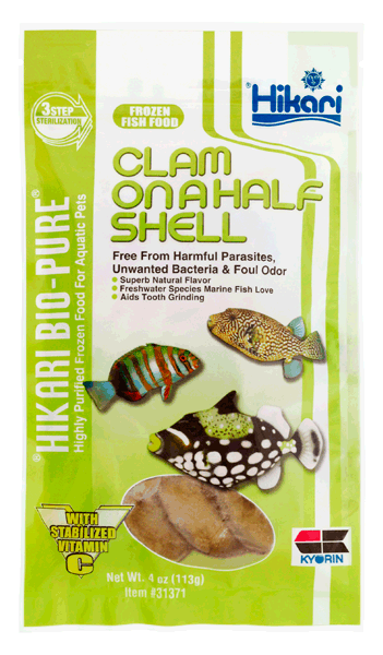 Hikari Bio-Pure Frozen Clams on a Half Shell 4oz