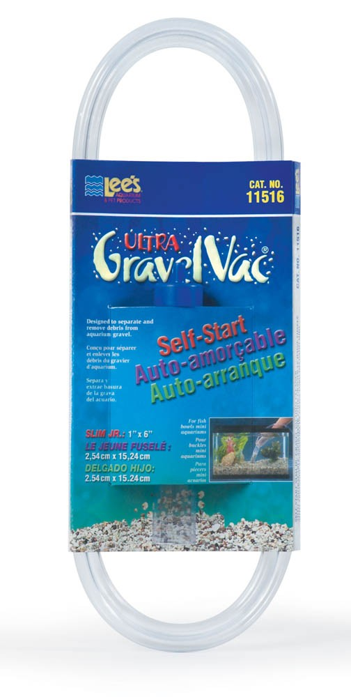 "Lee's Self-Start Gravel Vac Slim Junior 6"""