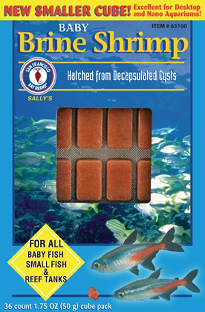 San Francisco Bay Frozen Baby Brine Shrimp Cube Pack 1.75oz.