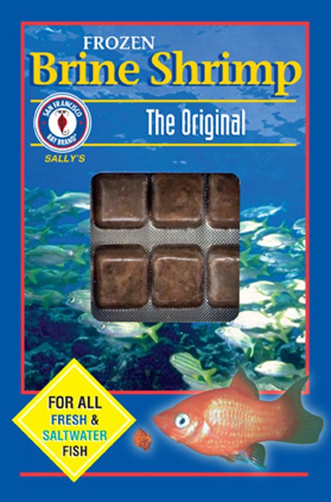 San Francisco Bay Frozen Brine Shrimp Cube Pack 3.5oz.