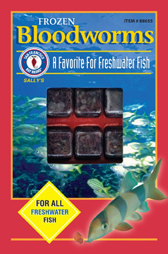 San Francisco Bay Frozen Bloodworms Cube Pack 3.5oz.