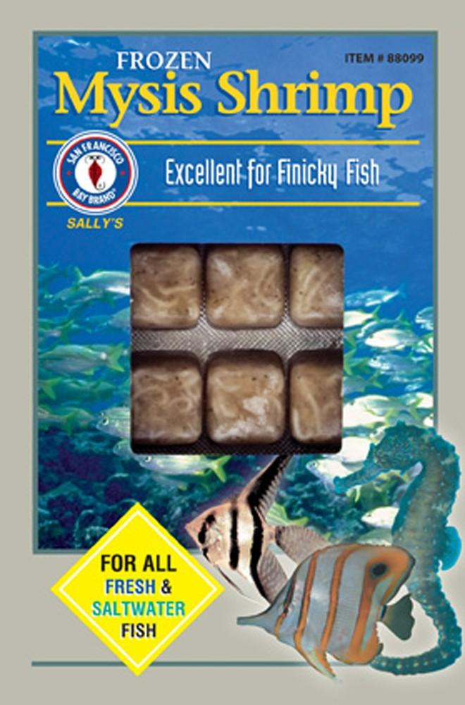 San Francisco Bay Frozen Mysis Shrimp Cube Pack 3.5oz.