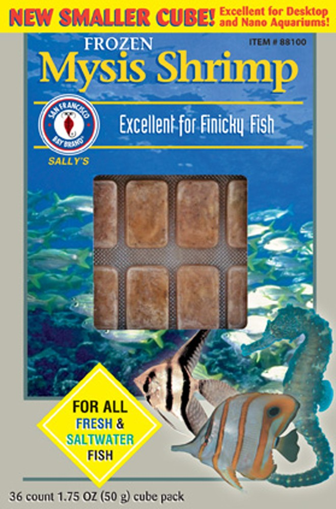 San Francisco Bay Frozen Mysis Shrimp Cube Pack 1.75oz.
