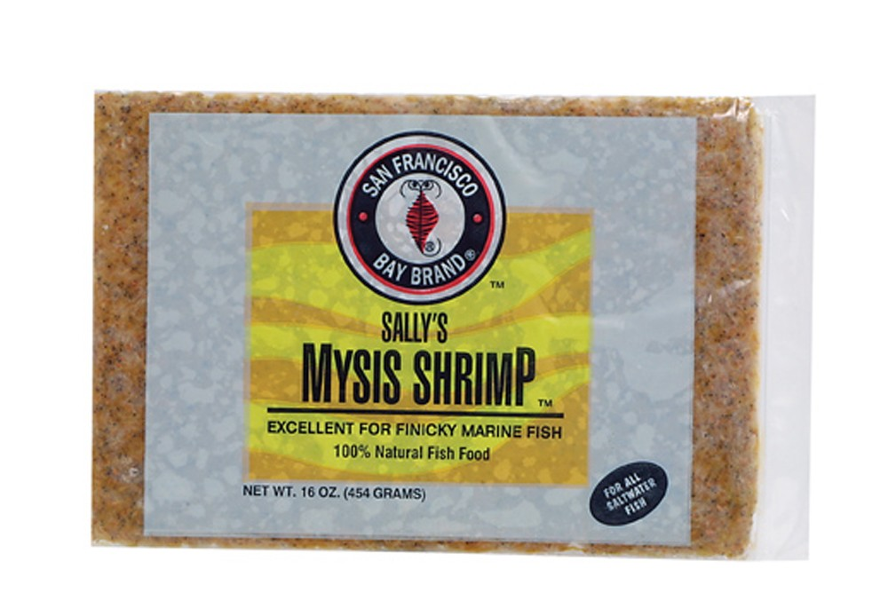 San Francisco Bay Frozen Mysis Shrimp Flat Pack 16oz.
