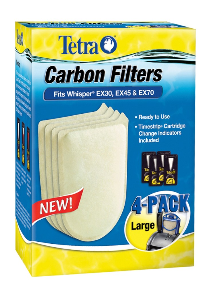 Tetra Whisper EX Carbon Filter Large 4pk