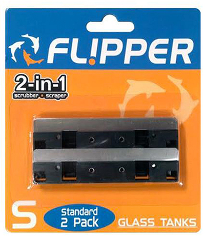 Flipper Standard Stainless Steel Replacement Blades, 2-Pack