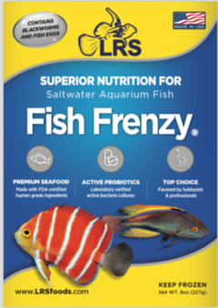 LRS Fish Frenzy Frozen Food for Saltwater Fish, 8oz