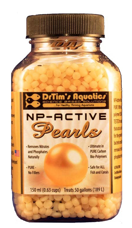 Dr. Tim's NP-Active Pearls for Nitrate & Phosphate Control (150ml), treats 50 Gallons