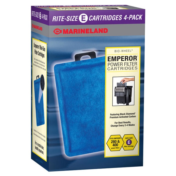 MarineLand Rite Size E Filter Cartridge 4-Pack