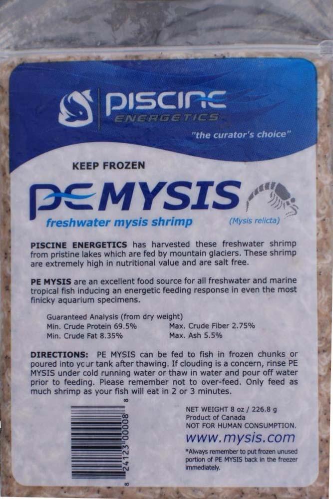 Piscine Energetics Frozen Mysis Flat 8oz