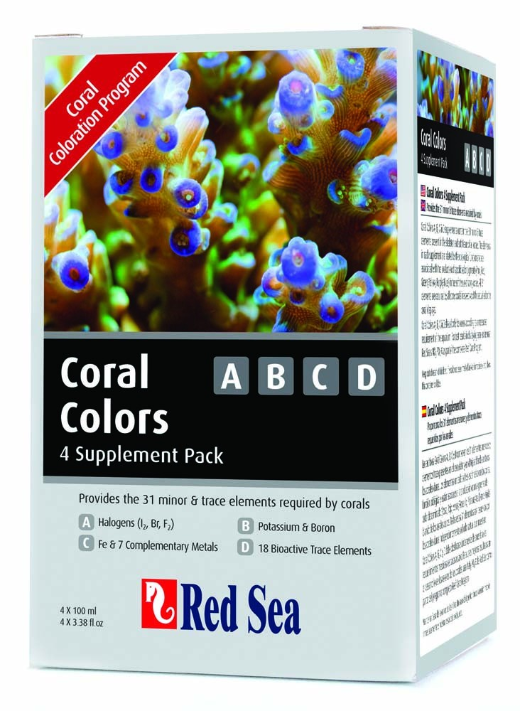 Red Sea Colors A/B/C/D Trace Supplement 4 bottles x 100ml