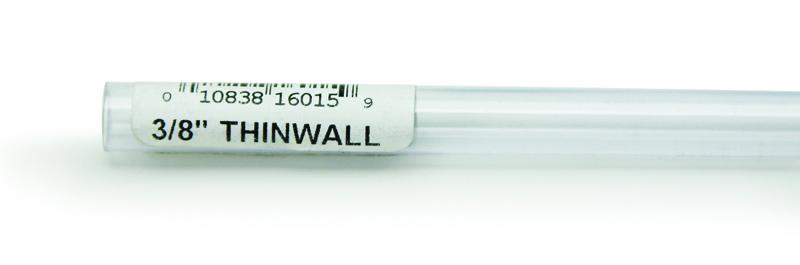 """Lee's Rigid Thinwall Tubing 3/8"""" x 36"""""""