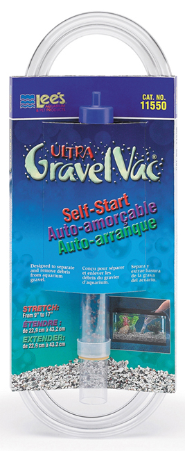 "Lee's Self-Start Gravel Vac Mini Stretch 9""-17"""