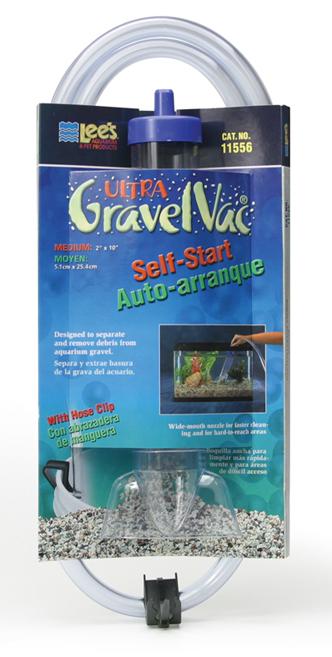 "Lee's Self-Start Gravel Vac Medium with Nozzle 10"""