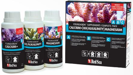Red Sea Foundation Complete Starter Kit: Ca, Kh, Mg (3 x 250ml)