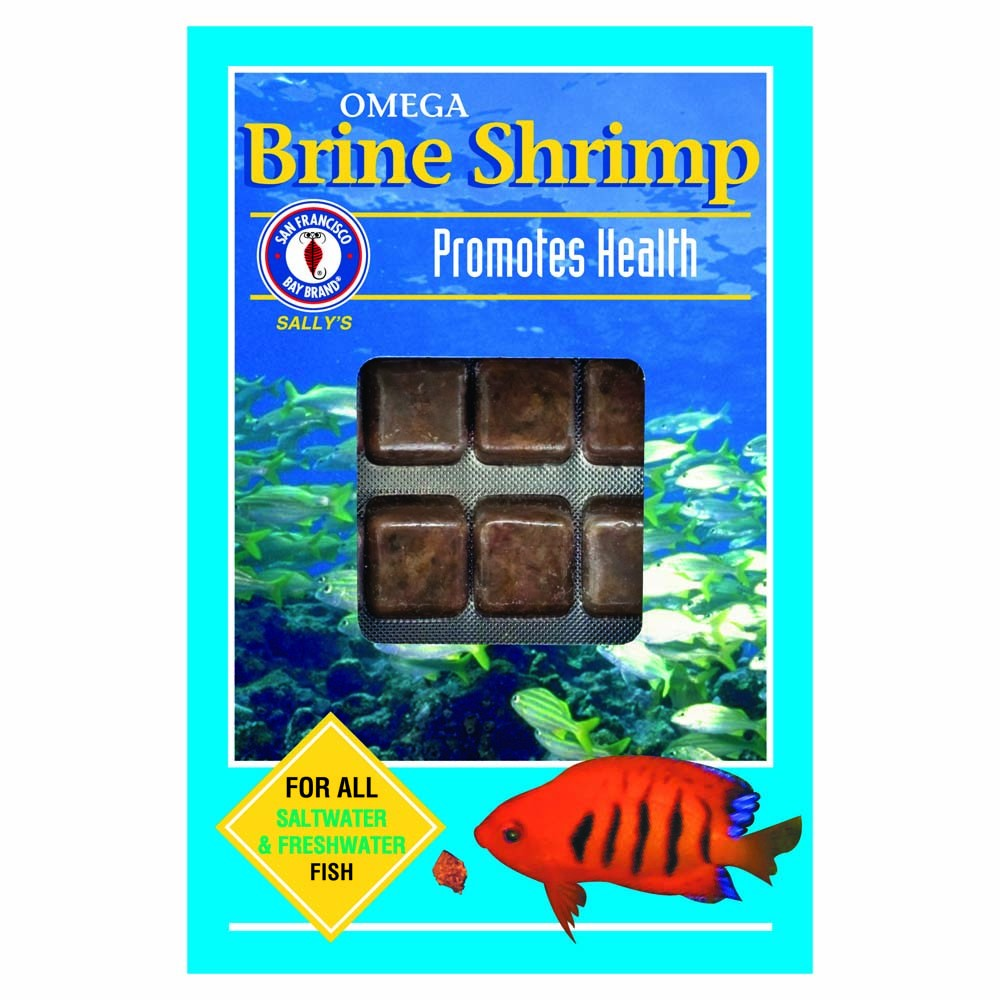 San Francisco Bay Frozen Brine Shrimp with Omega-3 Cube Pack 3.5oz.