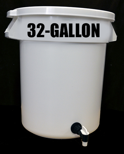 32-Gallon Water Storage Container with Float Valve, Tap and Cover