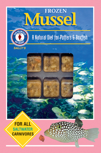 San Francisco Bay Frozen Mussel Cube Pack 3.5oz.