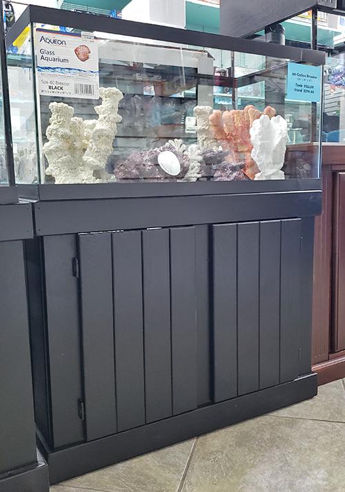 Aqueon 40-Gallon Breeder Aquarium with Black Pine Cabinet