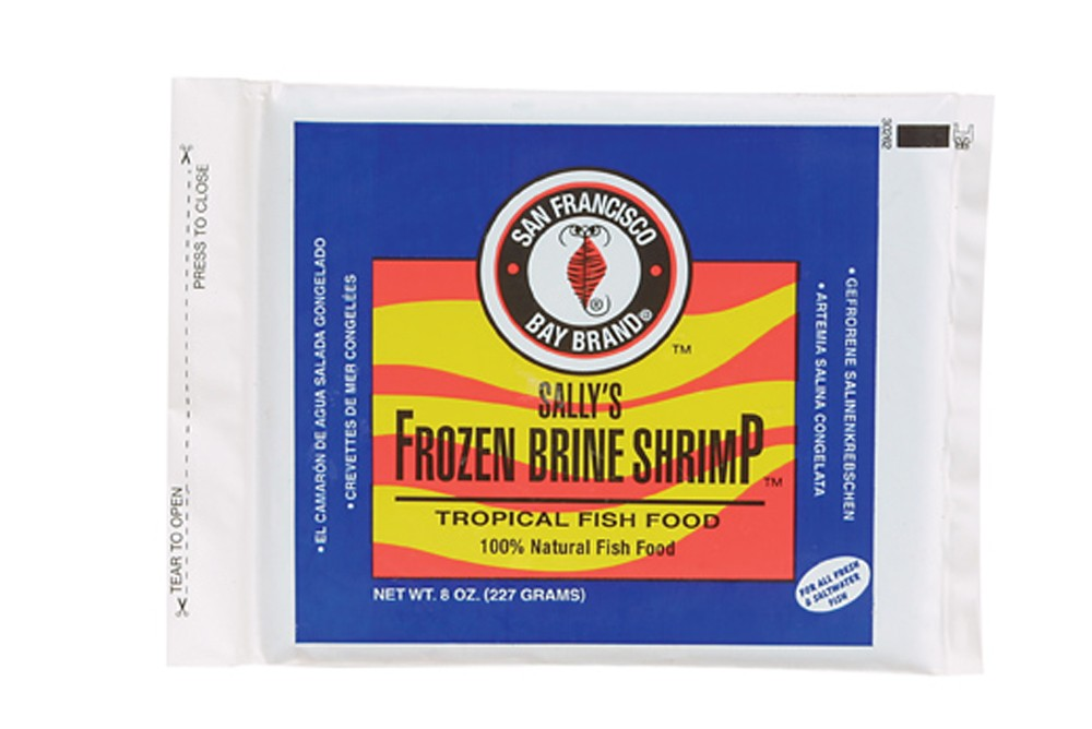 San Francisco Bay Frozen Brine Shrimp Flat Pack 8oz.
