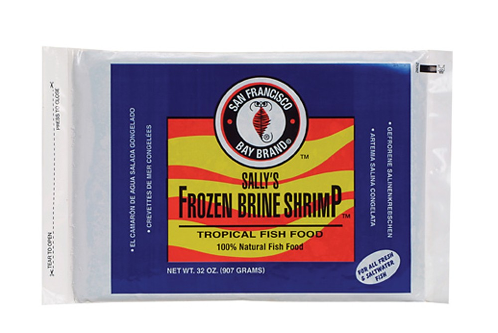 San Francisco Bay Frozen Brine Shrimp Flat Pack 32oz.