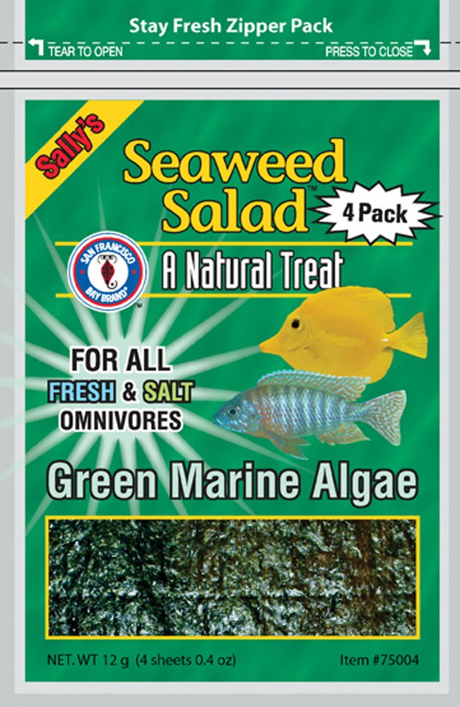 San Francisco Bay Seaweed Salad Green 4-Sheets 12g