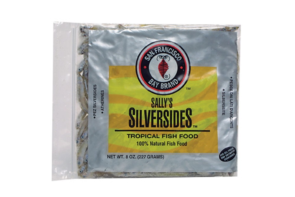 San Francisco Bay Frozen Silversides Flat Pack 8oz.