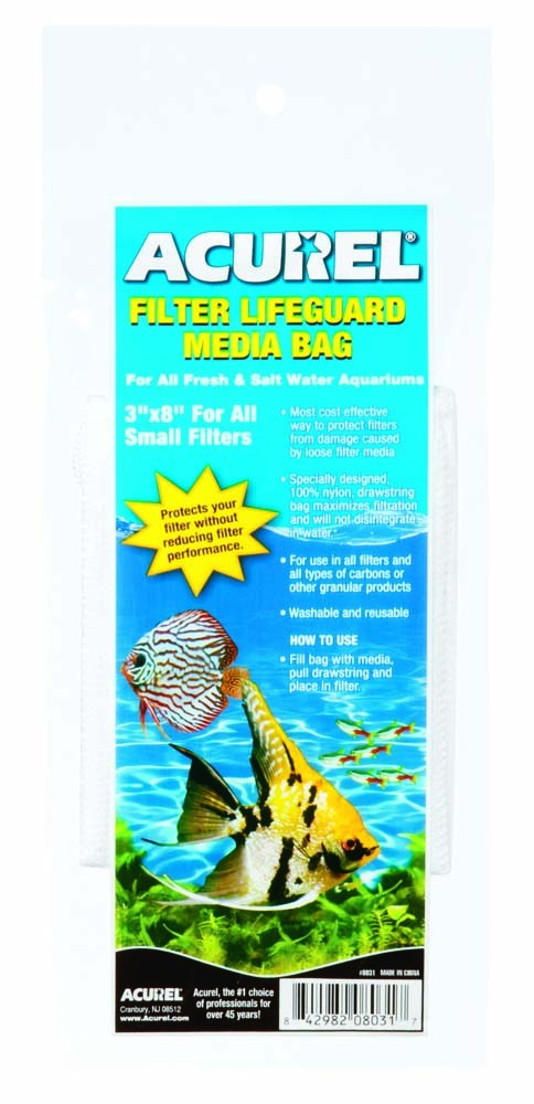 "Acurel Filter Lifeguard Media Bag 3"" x 8"""