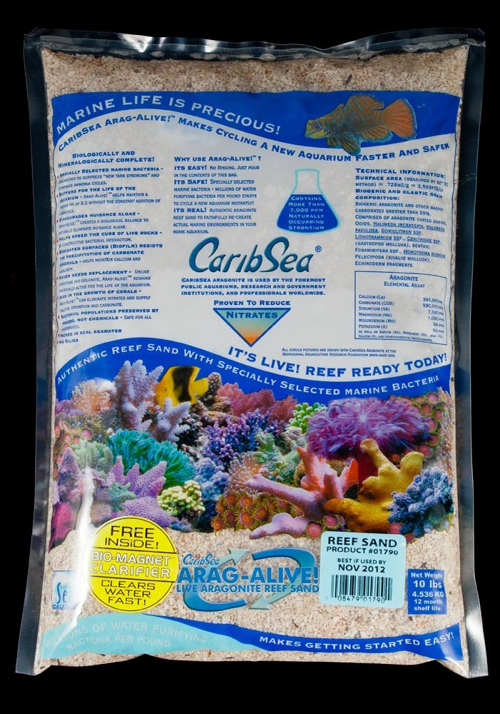 Carib Sea Arag-Alive Special Grade Reef Sand 10lb
