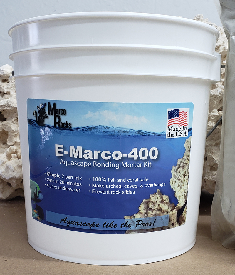 E-Marco 400 Aquascaping Mortar Kit, Grey