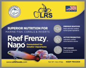 LRS Reef Frenzy Nano Frozen Food for Smaller Aquariums, 4oz