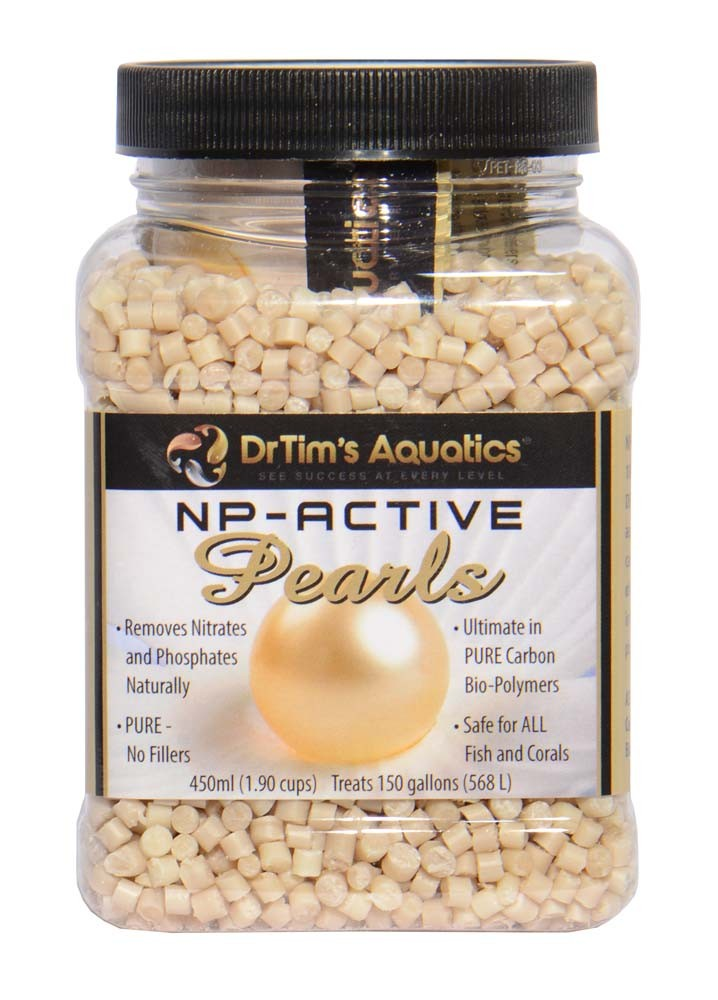 Dr. Tim's NP-Active Pearls for Nitrate & Phosphate Control (450ml), treats 150 Gallons