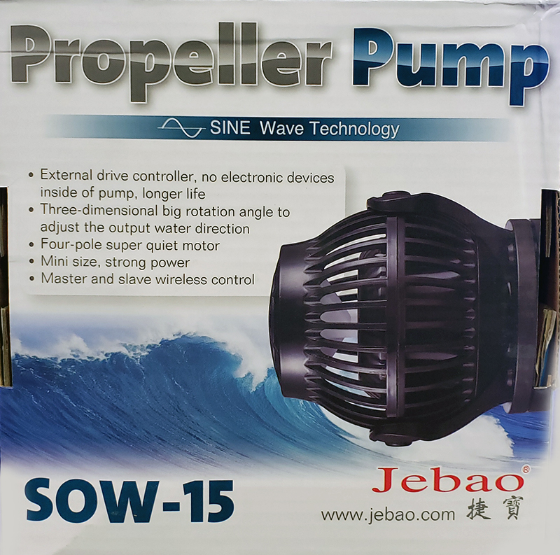 Jebao SOW-15 SINE Wavemaker Pump with Controller 3960gph