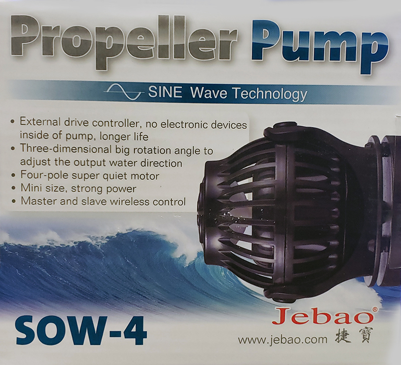 Jebao SOW-4 SINE Wavemaker Pump with Controller 1055gph