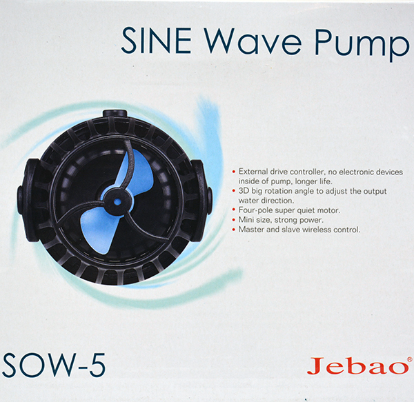 Jebao SOW-5 SINE Wavemaker Pump with Controller 1320gph