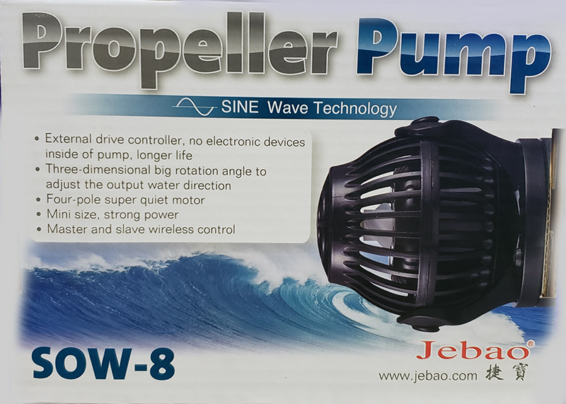 Jebao SOW-8 SINE Wavemaker Pump with Controller 2250gph