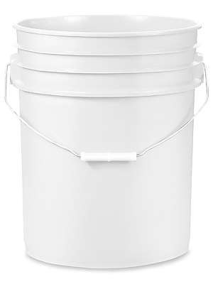 White 5-Gallon Bucket with Pop-Up Pour Spout Lid