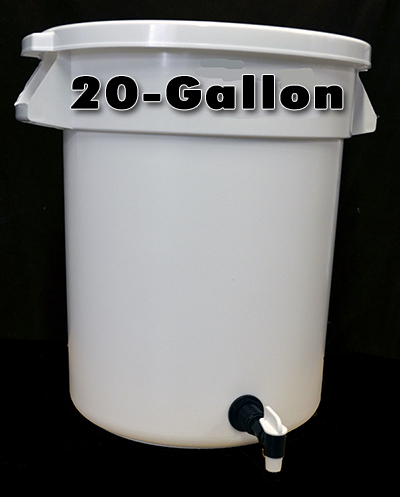 20-Gallon Water Storage Container with Float Valve, Tap and Cover