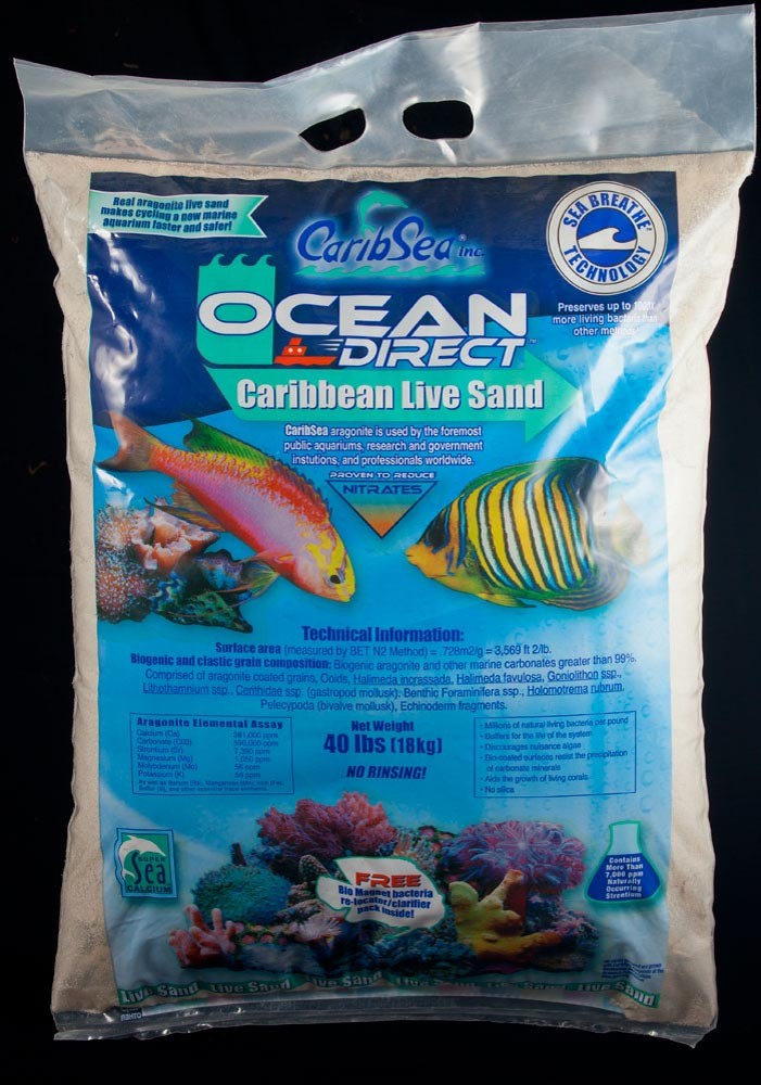 Carib Sea Ocean Direct Natural Live Sand 40lb