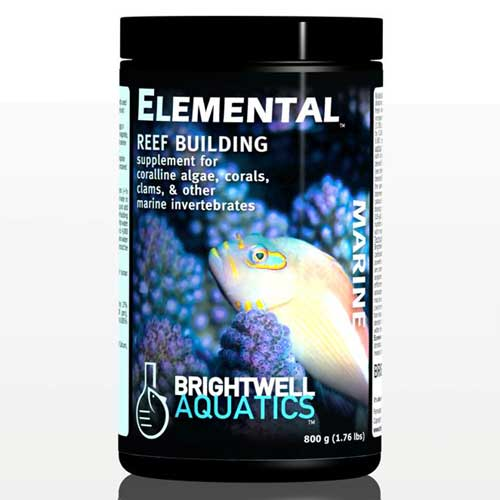 Brightwell Aquatics Elemental - Dry Reef-Building Complex for Corals, Clams, etc. 400 g. / 14.1 oz.
