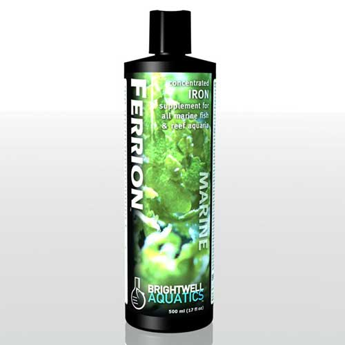 Brightwell Aquatics Ferrion - Liquid Iron Supplement for Reef Aquaria and Refugia 500 ml / 17 fl. oz.