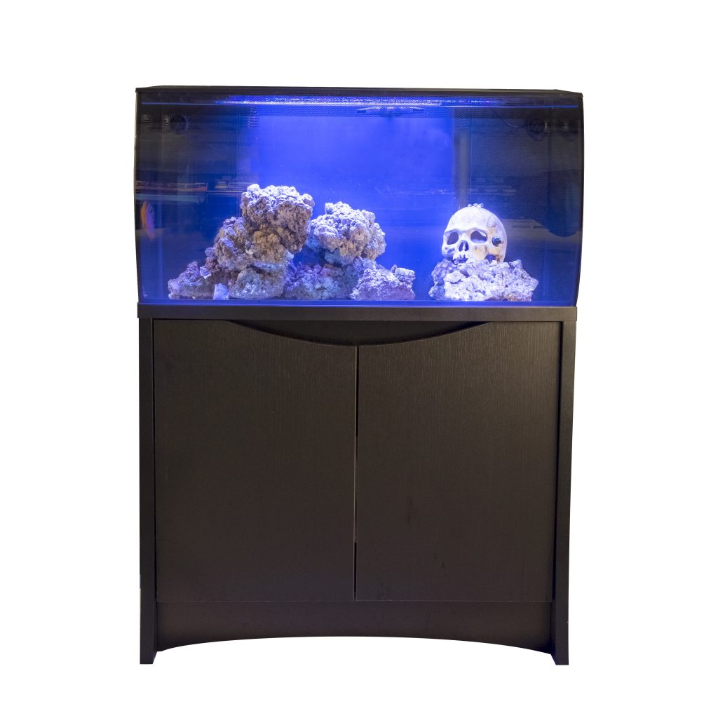 Fluval Flex 32.5-Gallon Saltwater Aquarium Kit with Matching Black Stand
