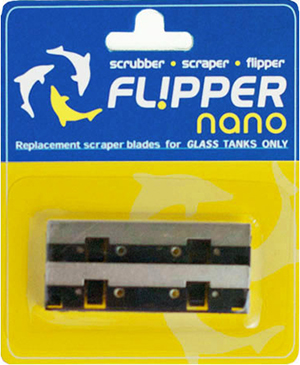Flipper Nano Stainless Steel Replacement Blades, 2-Pack