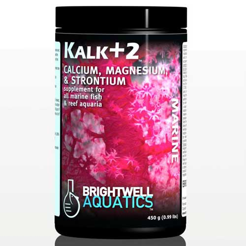 Brightwell Aquatics Kalk+2 - Advanced Kalkwasser Supplement w/Calc., Stron., Mag. 450 g. / 15.9 oz.