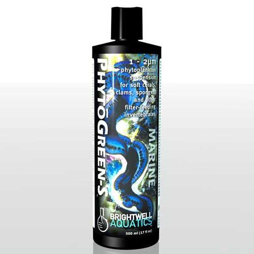 Brightwell Aquatics PhytoGreen-S - Green Phytoplankton (Small) 1-2 micron 500 ml / 17 fl. oz.