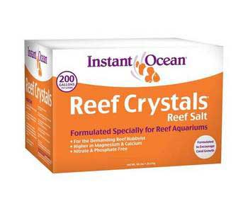Instant Ocean Reef Crystals Sea Salt 200-Gallon Mix Box