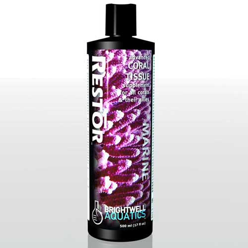 Brightwell Aquatics Restor - Liquid Coral Tissue Nutritional Supplement 500 ml / 17 fl. oz.