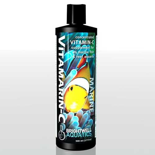 Brightwell Aquatics Vitamarin-C - Vitamin-C Supplement for all Marine Aquaria 500 ml / 17 fl. oz.